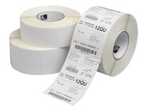Zebra Z-Perform 1000T - Papier - matt - permanenter Acrylklebstoff - unbeschichtet - 130 Mikron