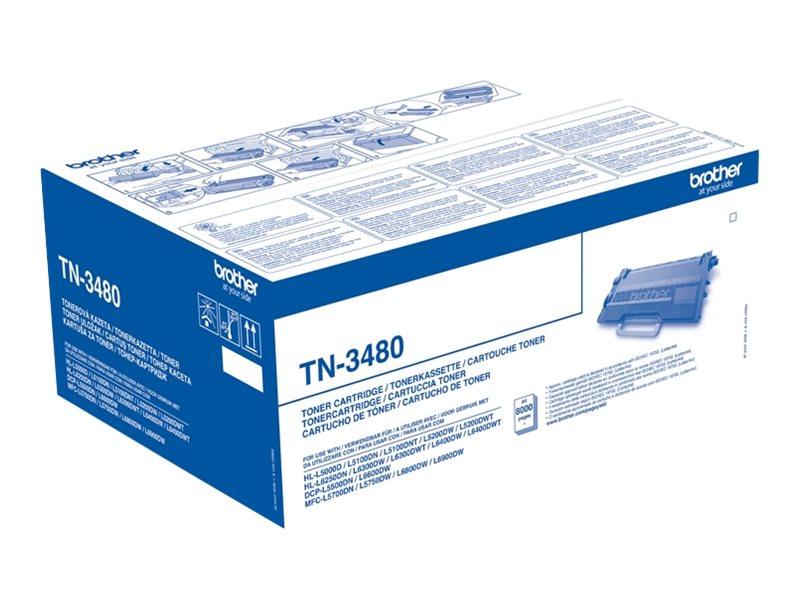 Tn3480 hohe ergiebigkeit schwarz original tonerpatrone fuer brother hl l5000 l5050 l5100 l5200 l6450 mfc l5700 l5750 l6800 l6900 l6950 l6970 5724843 tn3480