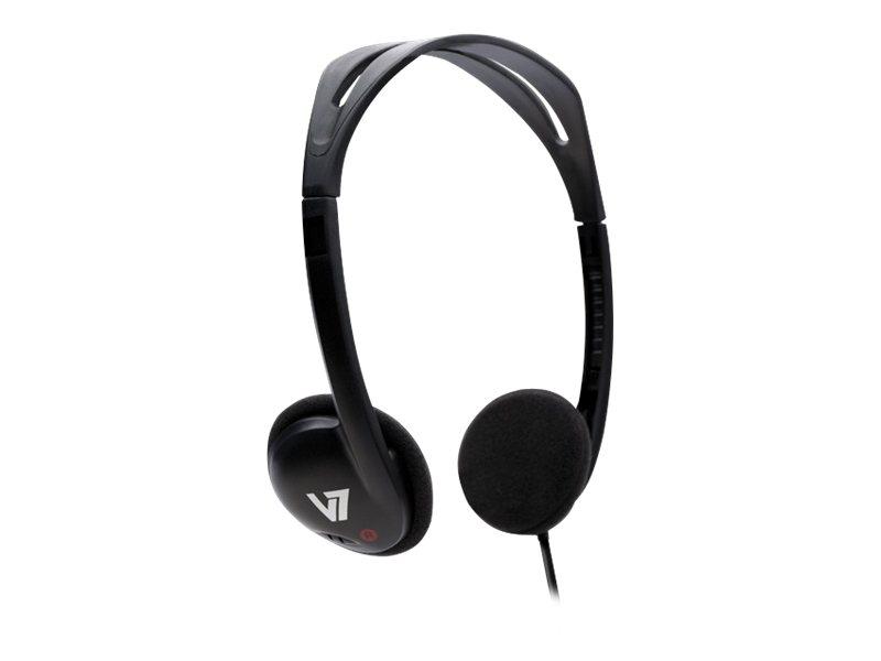 V7 ha300 kopfhoerer on ear kabelgebunden 3 5 mm stecker schwarz 2438628 ha300 2ep