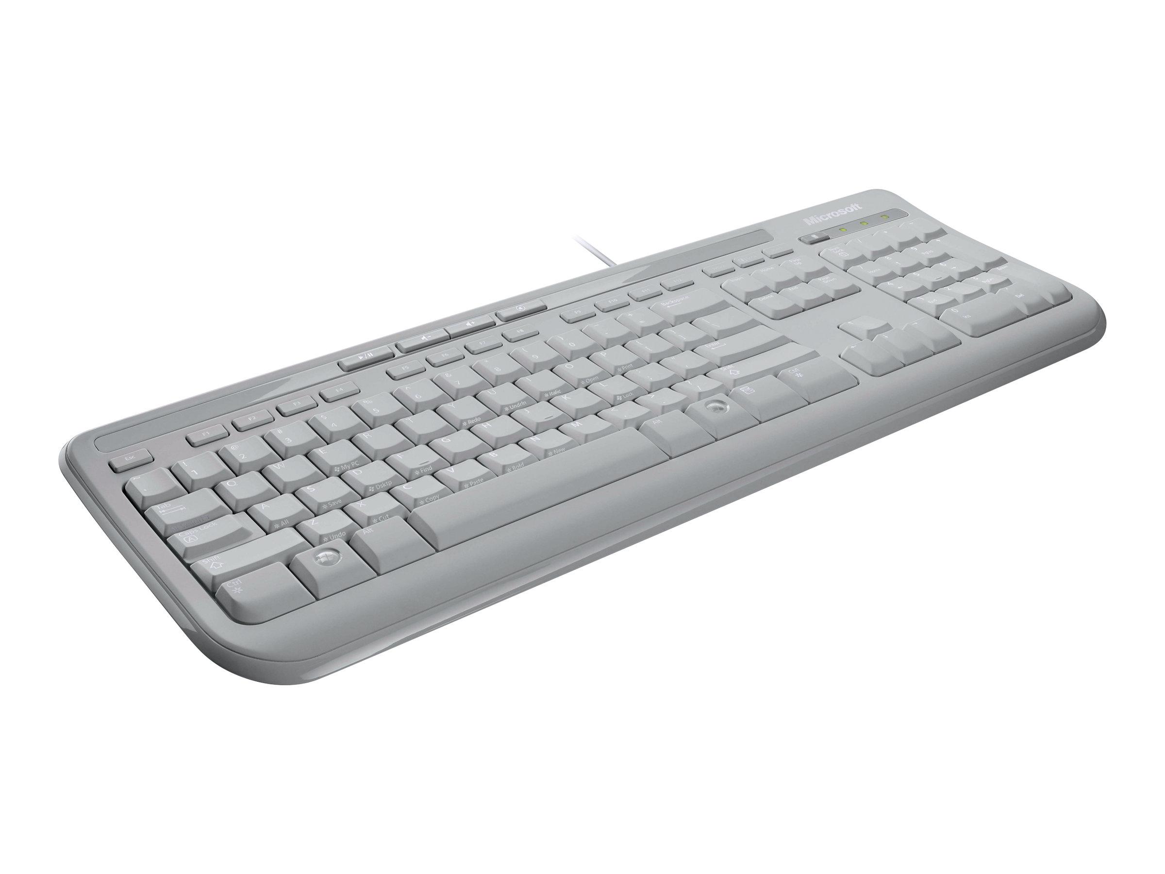 Wired keyboard 600 tastatur usb deutsch weiss 1106008 anb 00028
