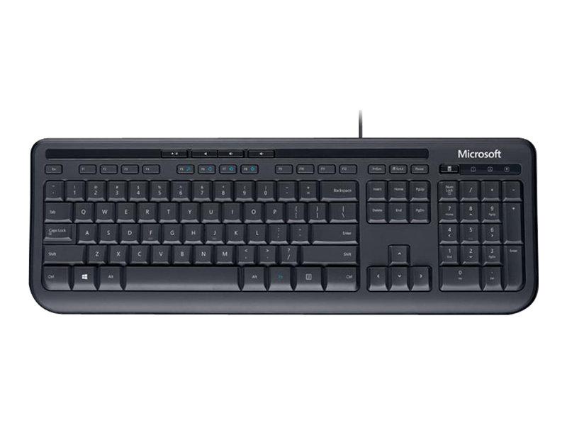 Wired keyboard 600 tastatur usb englisch schwarz 1129366 anb 00021