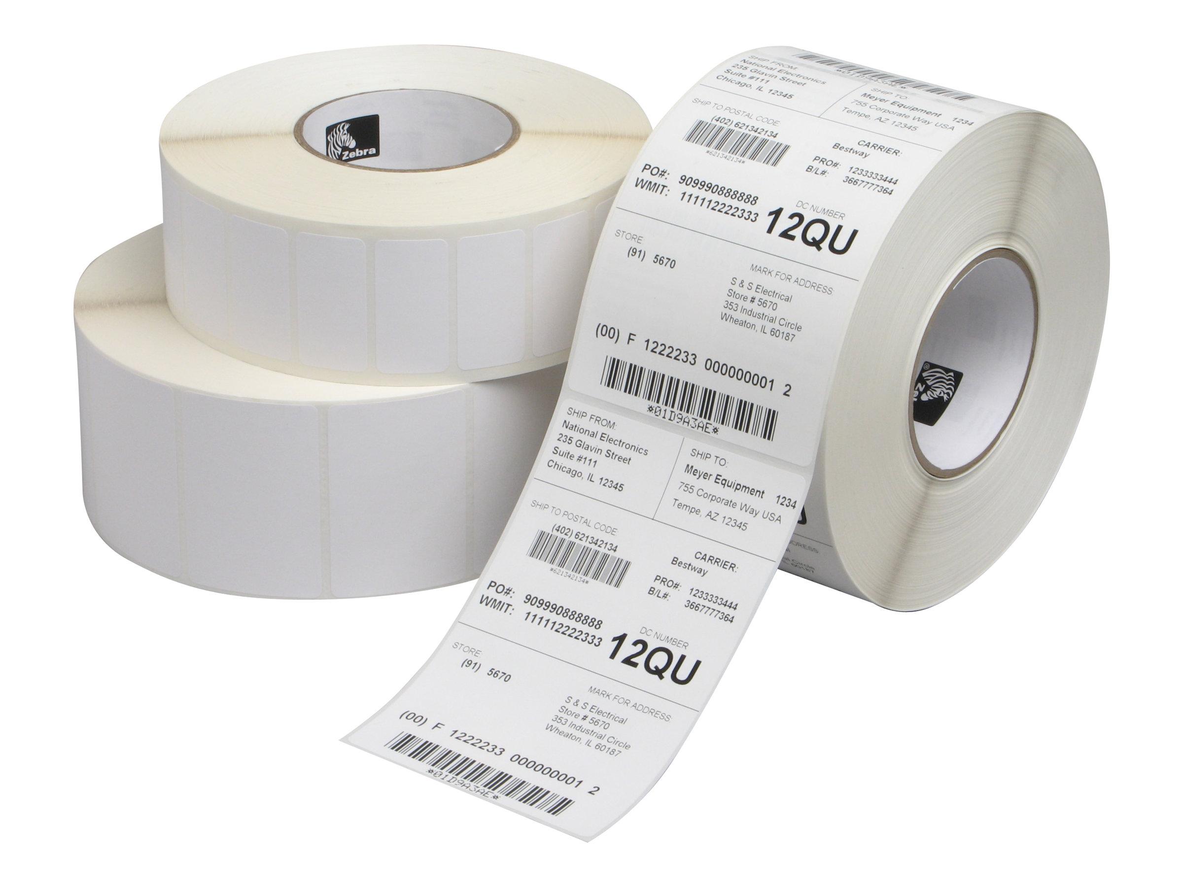Zebra z perform 1000t papier permanenter klebstoff unbeschichtet 38 1 x 38 1 mm 43608 etikett en 12 rolle n x 3634 box etiketten 10530979 880834 038u